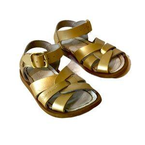 Saltwater Sandals Gold Baby 5